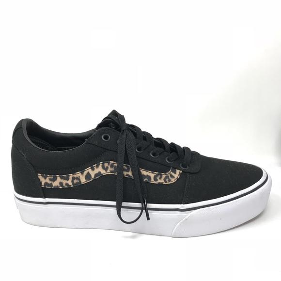huge range of reliable reputation stable quality Vans Women's Sz 11 Ward Platform Sneakers Leopard